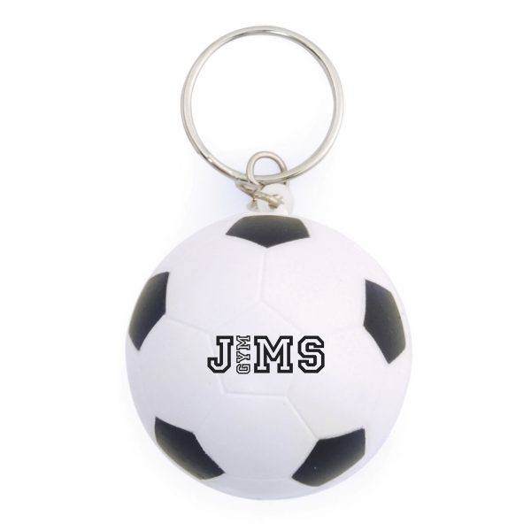 Football shaped stress reliever keyring