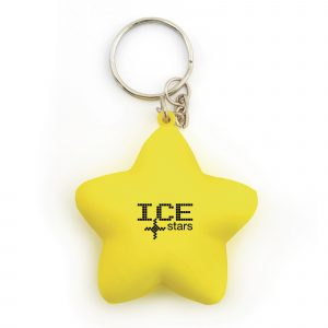 Star shaped stress reliever keyring