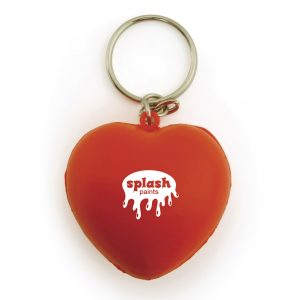 Heart shaped stress reliever keyring