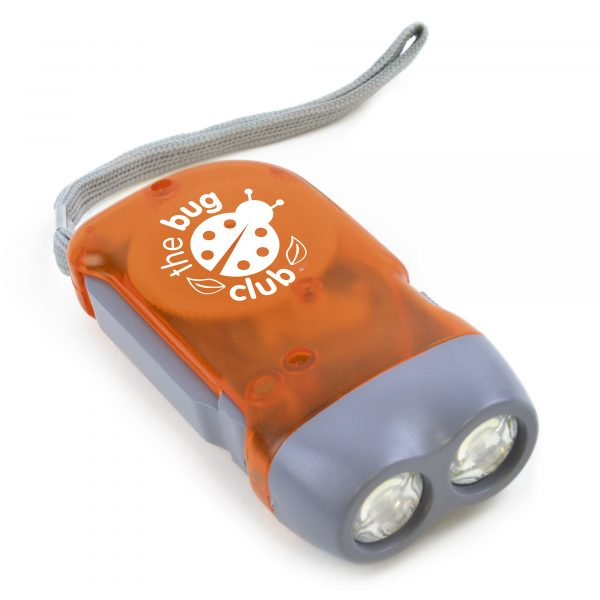 2 LED Hand held dynamo torch. Available in various colours.
