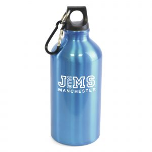 500ml single walled, aluminium drinks bottle with a black PP plastic screw on cap and black carabineer clip. BPA & PVC free. Available in various colours.