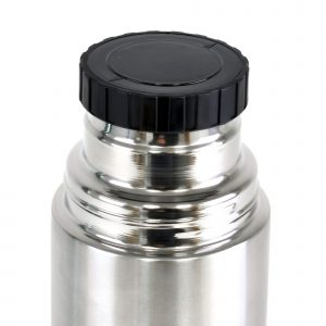 500ml double walled, stainless steel vacuum flask with cup. BPA & PVC free.