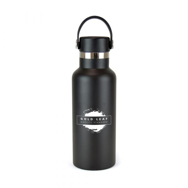 500ml double walled, stainless steel, drinks bottle with a matching coloured PP plastic lid and silicone carry handle. Keeps hot and cold drinks at the perfect temperature. BPA & PVC free. Available in black and white.