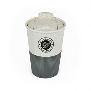 330ml single walled tumbler made from 50% bamboo and 50% plastic. The tumbler has a push on lid with sliding sipper and a rubber feel grip to the bottom half. BPA, PVC & Melamine free.