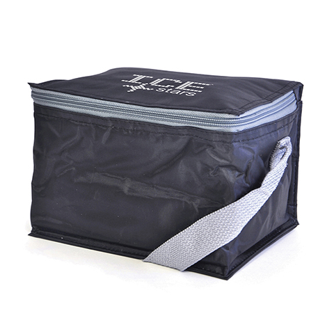 70D Nylon 6 can cooler bag. Great for sandwiches or up to six 330ml drinks cans.