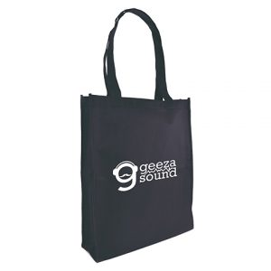 Recyclable 80gsm non woven PP shopper with gusset and long handles.