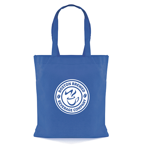 Recyclable 80gsm non woven PP shopper with long handles.
