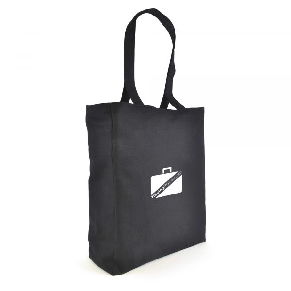 Coloured 10oz portrait shaped canvas shopper with long handles and gusset. A tough, hard-wearing bag, great for carrying catalogues at exhibitions.