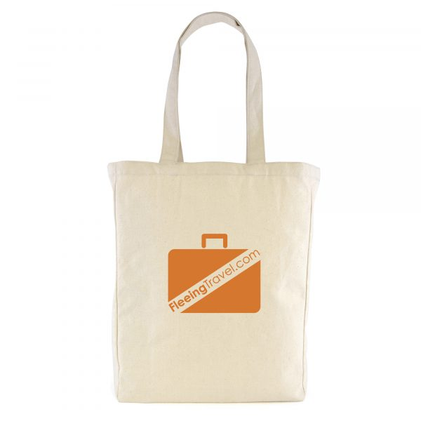 Natural 10oz portrait shaped canvas shopper with long handles and gusset. A tough hard-wearing bag, great for carrying catalogues at exhibitions.