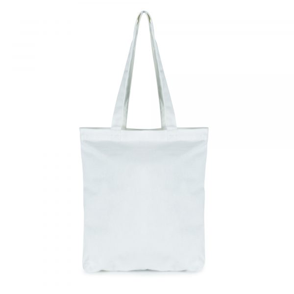 Large 7oz cotton shopper with zipped closure and handles.