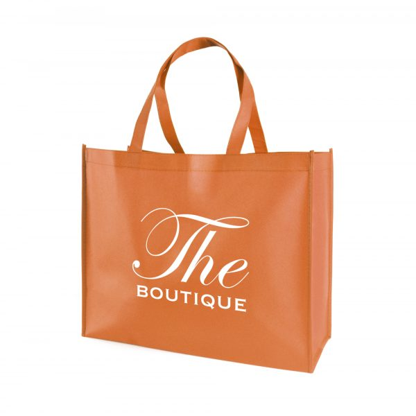 Recyclable 80gsm non woven PP shopper with gusset and long handles. Available in 7 colours.