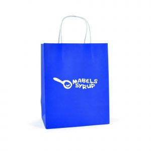 Medium paper bag with twist paper handles and gusset. Available in 6 colours