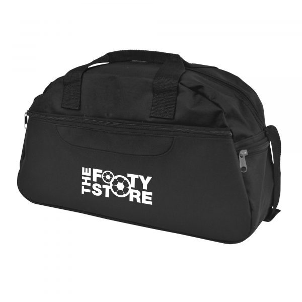 600D polyester kit bag with zip close main compartment, front pocket and 2 carry handles.