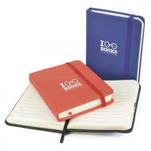 A7 PU soft finish notebook with 80 lined sheets, bookmark, back pocket and an elastic closure. Available in 3 colours.