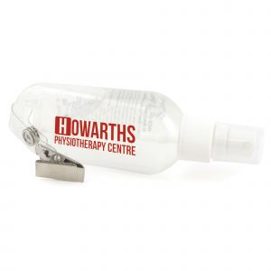 50ml hand sanitiser gel with convenient clip on tube.