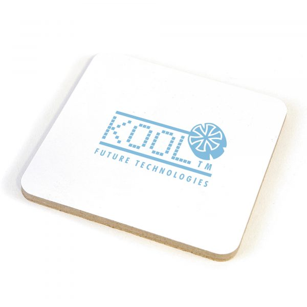 Single square coaster with traditional cork backing for excellent heat insulation and better grip.
