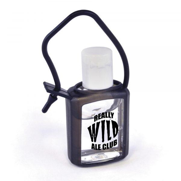 18ml compact sanitiser housed inside PVC casing.