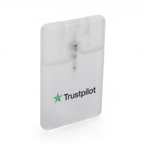 Pocket size 20ml hand sanitiser spray.