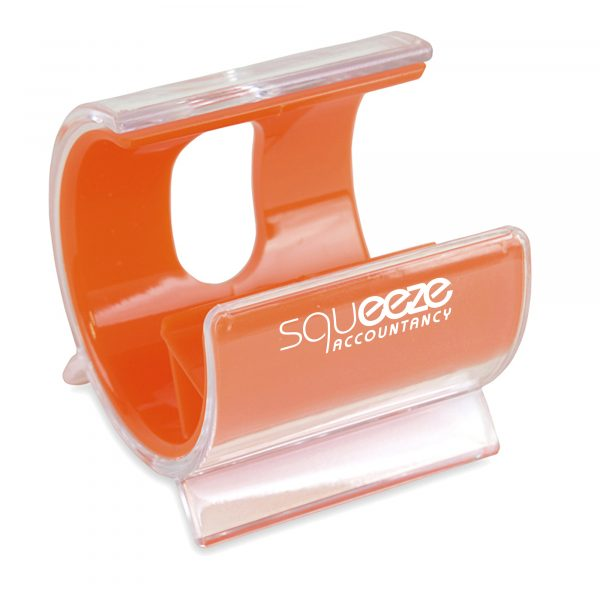 Desk Mobile Holder with coloured inner and translucent casing. Available in 10 colours.