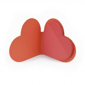 Heart shaped sticky notes in a heart shaped card cover. They will love them! Available in red.