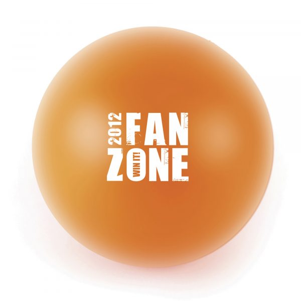 60mm diameter stress ball. Available in various colours