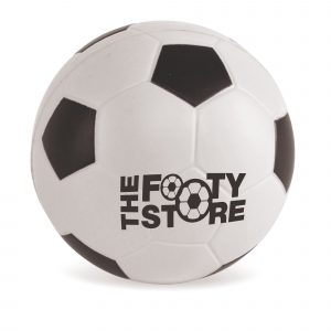 60mm Diameter football style stress ball. Available in various colours