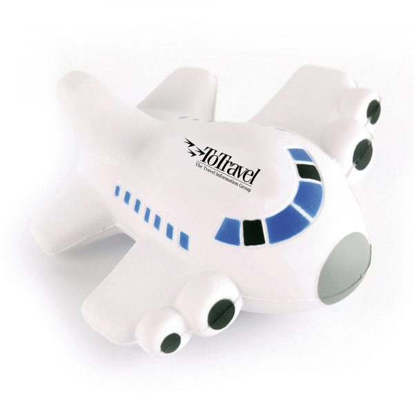 Airplane shaped stress toy