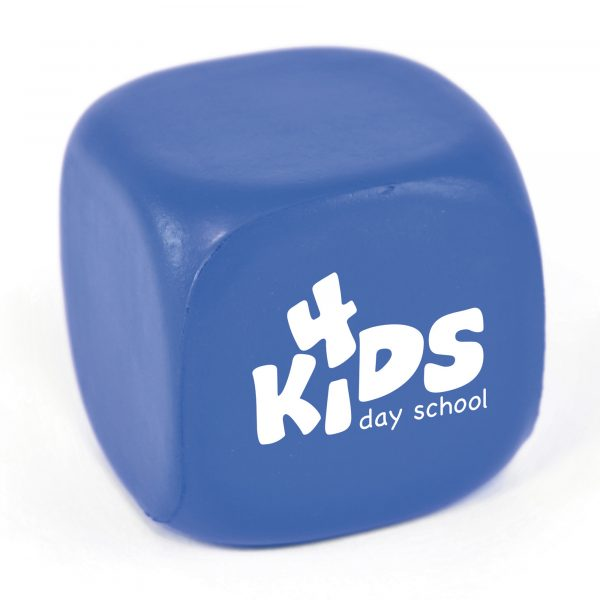 Cube shaped stress toy. Available in 3 colours.