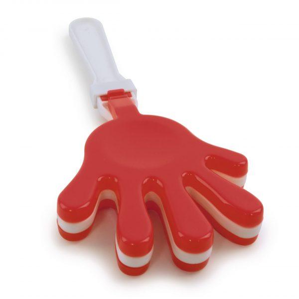 Small plastic hand clapper.