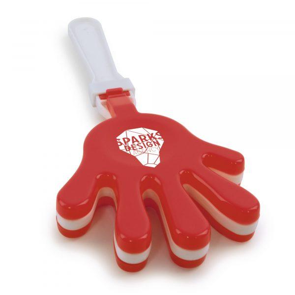 Large plastic hand clapper.