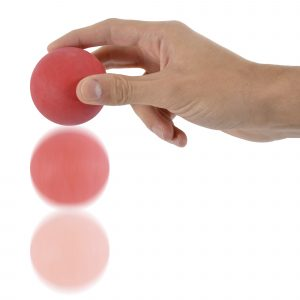 Coloured rubber bouncy ball. Not suitable for pets.