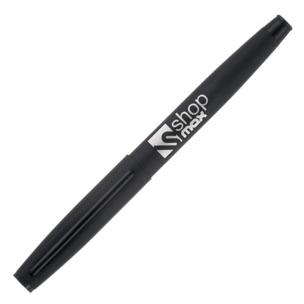 A silky soft feel finish in this substantial capped gel roller. Engrave marking only - engraves to a mirror chrome finish.