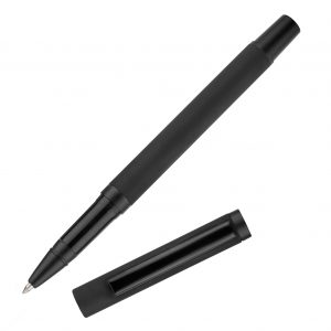 An all black rollerball in a chic soft-finish. A matching ball pen and pencil also available!