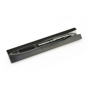 A choice of red, blue or black barrel in a metallic finish. Engrave your logo to show a bright light shining through the logo. All have a white light but on the black pen you can choose to have a blue light or a red light instead. Twist action for refill and push the stylus for light-up feature. Each pen is supplied in a card sleeve.