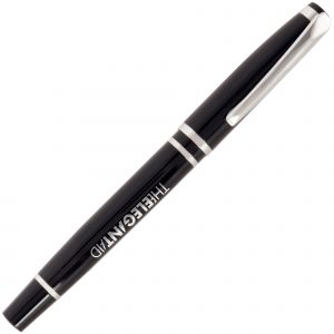 A prestigious, capped roller pen that has a chrome undercoat for a mirror finish when engraved. Priced as printed, engraving is available at an additional cost.