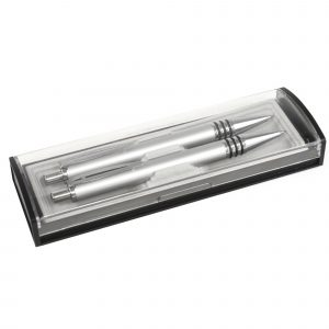 A practical and attractively styled gift box for 2 pens. Price is for unprinted