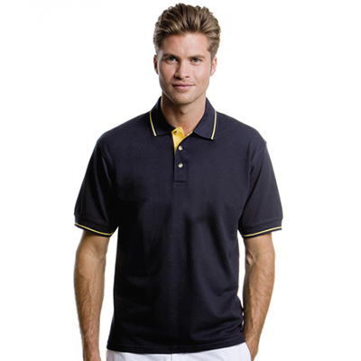 100% Combed Cotton, Contrast Taped Neck, Contrast Inner Placket, Three Button Placket, Tipped Collar