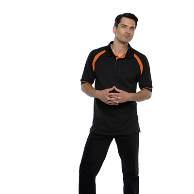 100% Combed Cotton, Three Button Placket With Contrast Inner, Contrast Back Neck and Raglan Sleeves.