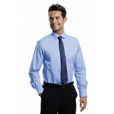55% Cotton 45% Polyester Poplin, Semi Cut-Away Collar, Two Button Cuff,
