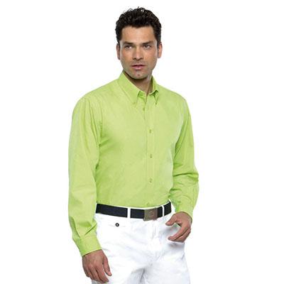 65% Cotton 35% Polyester Poplin, Button Down Collar, Self Colour Buttons,