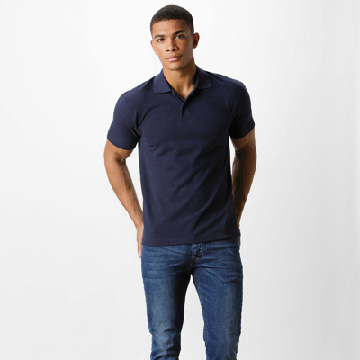 Men's short sleeve pique polo. 200gsm 50/50 poly cotton fabric, washable to 60 Deg. Ladies version available KK722
