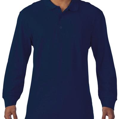 100% cotton long sleeve pique polo, 220gsm.