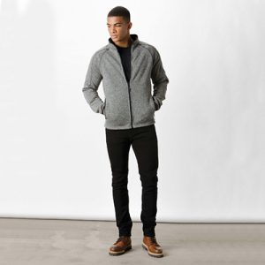 Bonded microfleece jacket, tailored fit, 400gsm. Two front zip pockets