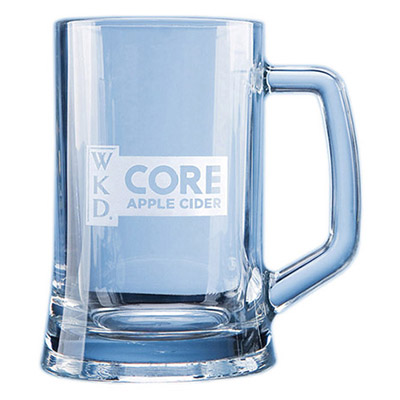 0.67ltr elegant durable tankard can be engraved with any crest, logo or wording to create a unique gift. Price includes engraving and blue flat pack gift box.