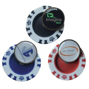 High quality poker chip with a removable metal magnetic ball marker printed full colour to your design and domed. Dimensions : 40mm Diameter. Print Area : 22.4mm Diameter. Minimum Order: 25