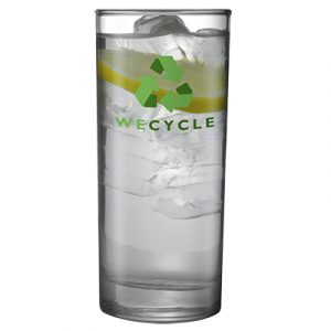 A simple styled glass tumbler, also available in a small version. 340ml capacity