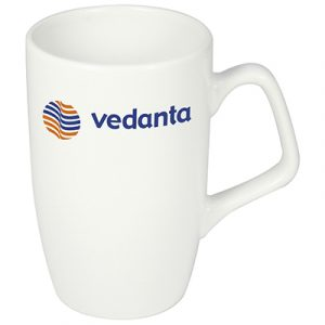 A new addition to the range. The corporate mug combines a stylish body with an angular handle. Perfect for that office brew.