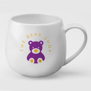 A uniquely shaped bone china mug different from all the standard shapes. A fantastic choice that will make your brand stand out
