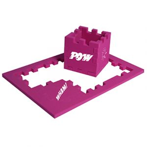 3d fantastic 6mm EVA 2-in1 foam puzzle that comes flat for posting. Take the 6 pieces from the frame and build into a cube, then try putting the pieces back into the frame.