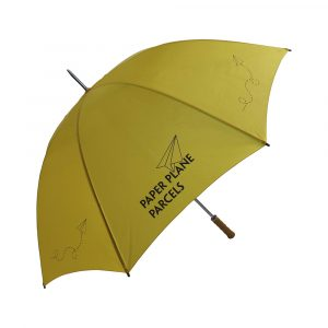 One of our best selling golf size umbrellas year after year. Our lowest cost golf size umbrella, windproof iron stem for increased flexibility and stability in windy conditions, polished wooden handle